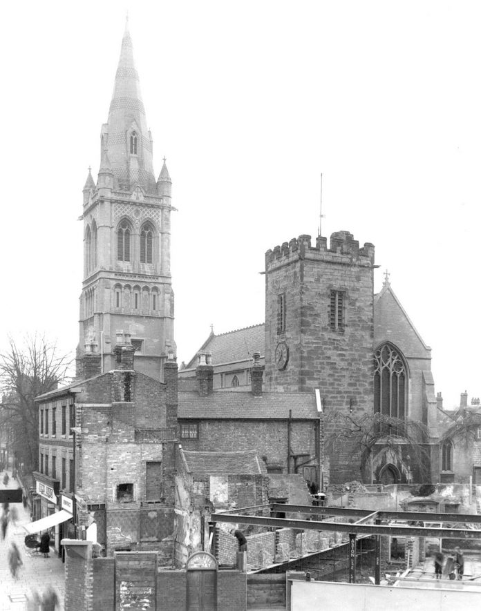St Andrew's Church, Rugby.  1955 |  IMAGE LOCATION: (Rugby Library)