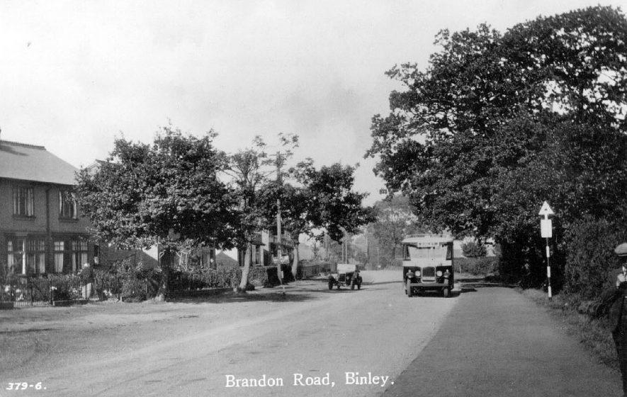 Brandon Road, Binley.  1930s |  IMAGE LOCATION: (Warwickshire County Record Office)
