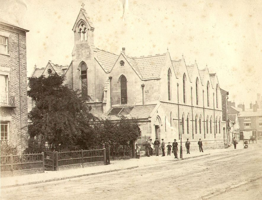 St Matthew's Church, Rugby.  1880 |  IMAGE LOCATION: (Rugby Library)