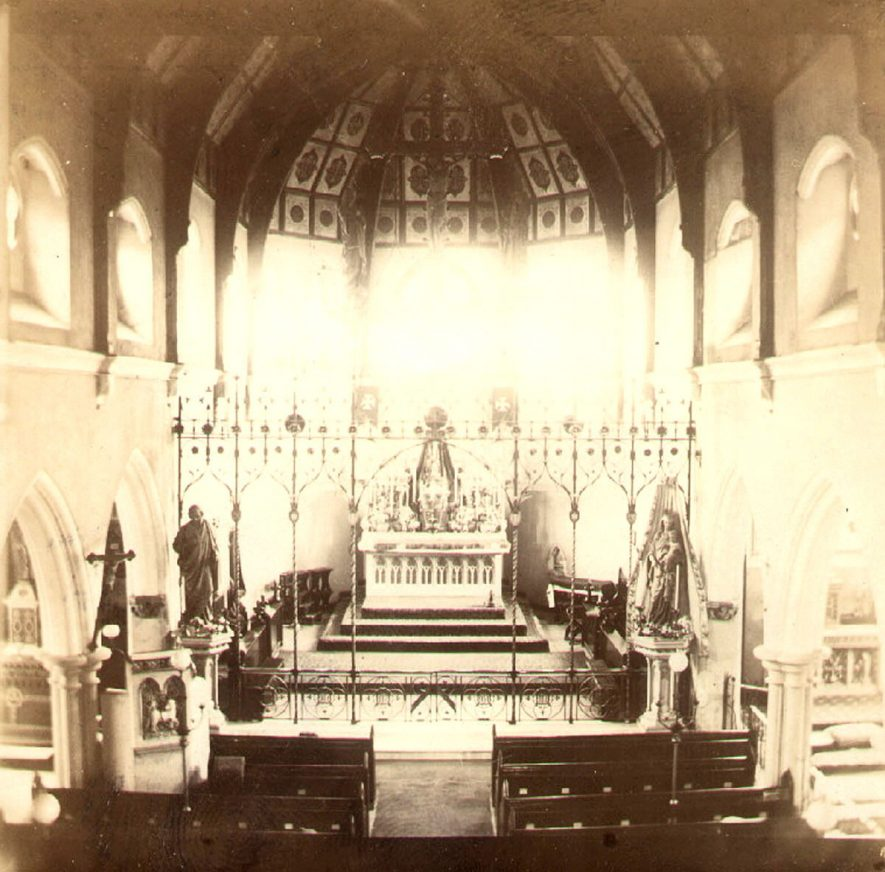 St Marie's Roman Catholic church interior, Rugby.  1910s |  IMAGE LOCATION: (Rugby Library)