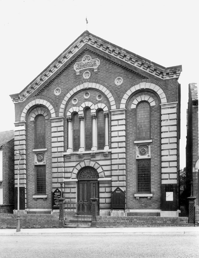 Methodist Church in Railway Terrace, Rugby.  1954 |  IMAGE LOCATION: (Rugby Library)