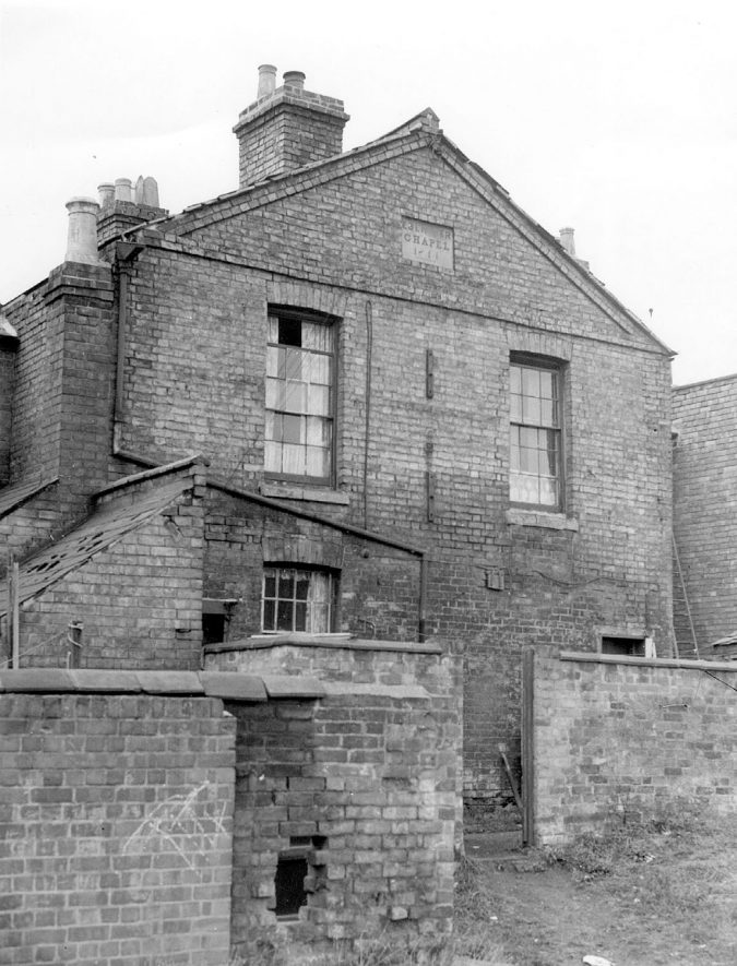 Old Ebenezer Chapel in Little Pennington Street, Rugby, which has been  demolished.  1959 |  IMAGE LOCATION: (Rugby Library)