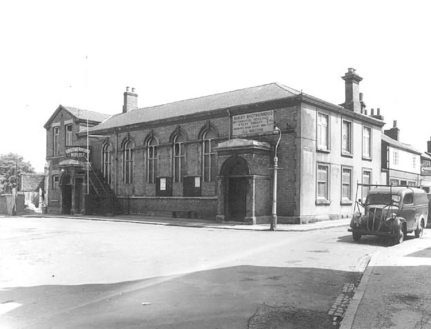 Brotherhood House, previously  St Andrew's church house, which was taken over by the Rugby Brotherhood, Rugby.  1959 |  IMAGE LOCATION: (Rugby Library)