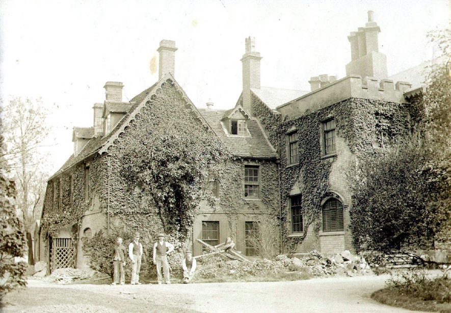 St Andrew's Church old rectory, Rugby.  Bought by Rugby Corporation in 1951 and sold to the William Temple College in 1952.  1890s |  IMAGE LOCATION: (Rugby Library)