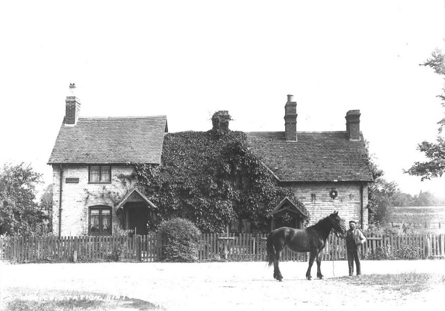 Binton Police Station with horse standing outside.  1900s |  IMAGE LOCATION: (Warwickshire County Record Office)