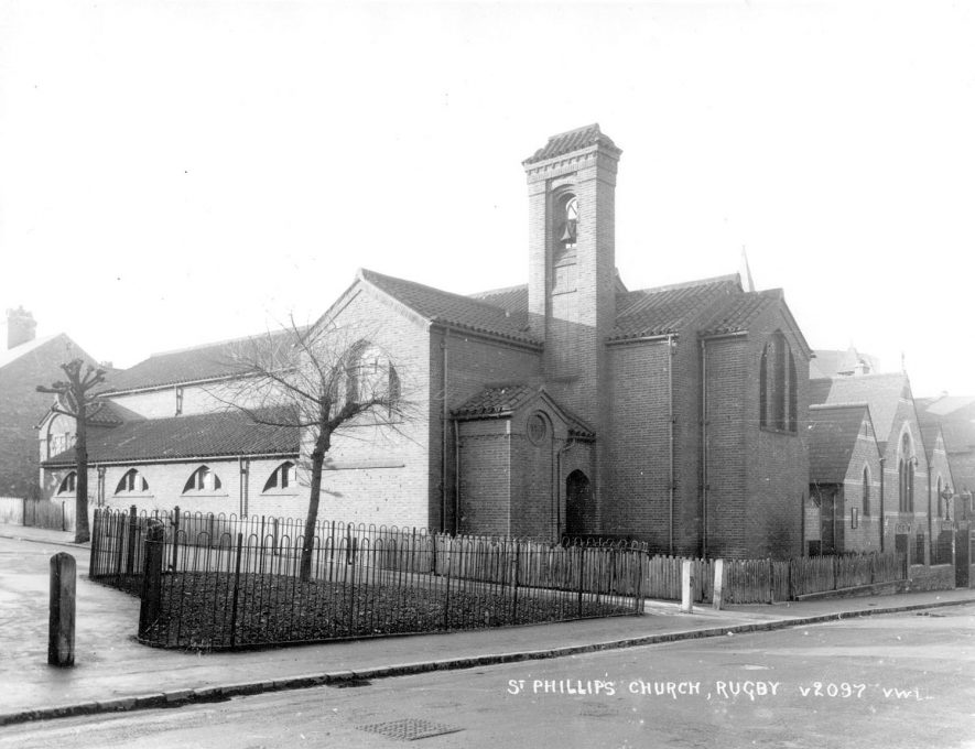 St Philip's Church, Wood Street, Rugby.  1954 |  IMAGE LOCATION: (Rugby Library)