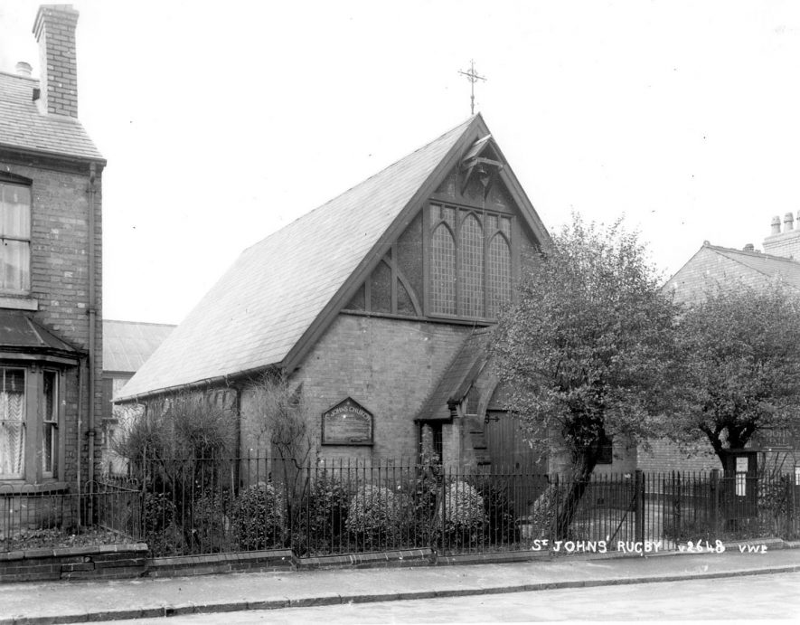 St John's Church, Cambridge Street, Rugby.  1954 |  IMAGE LOCATION: (Rugby Library)