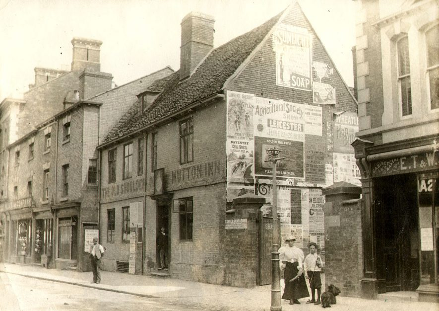 The Old Shoulder Of Mutton Inn in High Street, Rugby.  1896 |  IMAGE LOCATION: (Rugby Library)