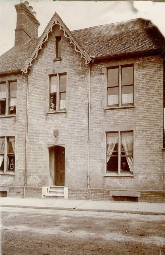 House in Albert Street, Rugby, which became the Head Post Office from 1901 until 1934, and was built in 1855. 1900.
