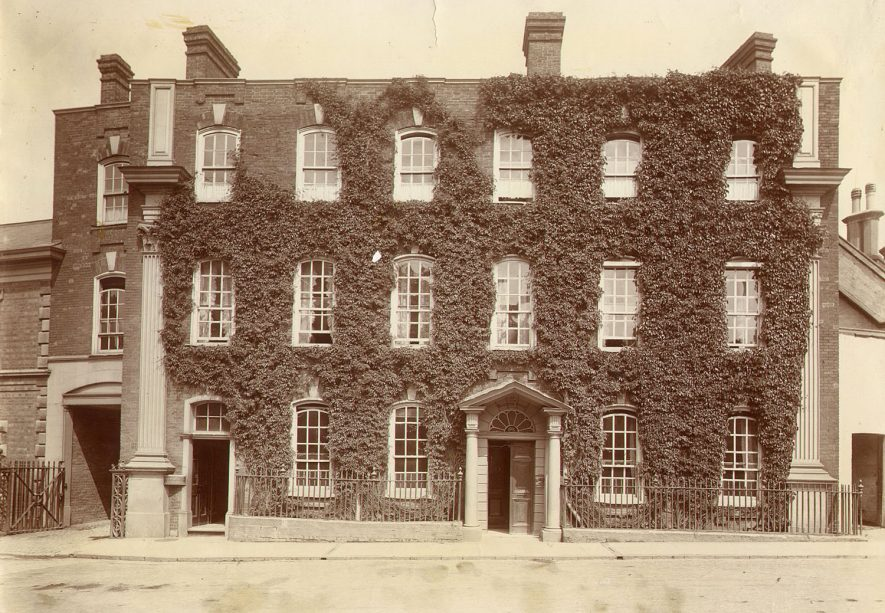 Boughton House, Market Place, Rugby, which became a tailors shop in the 1890s.  1898 |  IMAGE LOCATION: (Rugby Library)