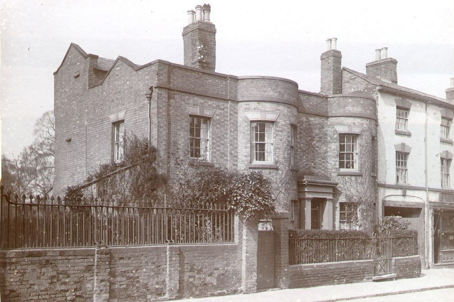 House in North Street, Rugby, which became part of Hilton's Garage and was  demolished in 1978.  1920 |  IMAGE LOCATION: (Rugby Library)