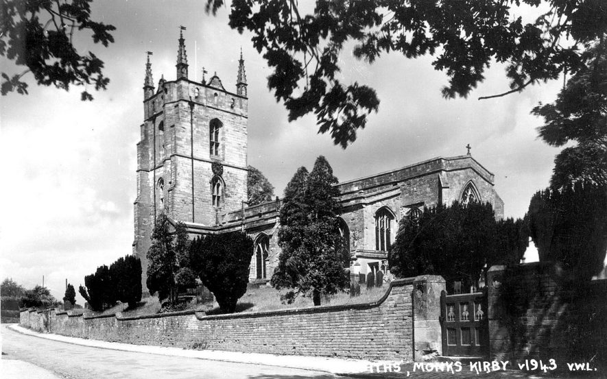 Monks Kirby.  Parish Church.  1943 |  IMAGE LOCATION: (Rugby Library)