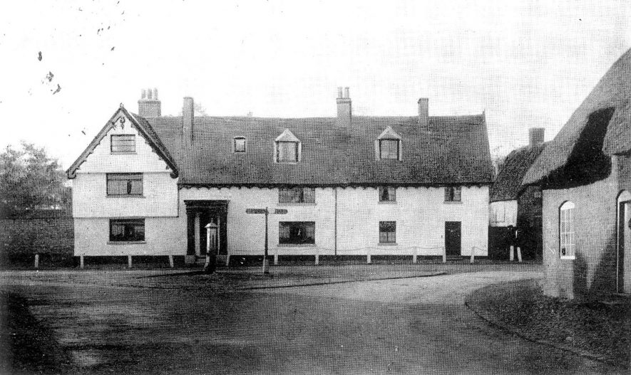 Lismers Smithy in Church Street, Rugby, 1860 - 1928.  1900 It has been suggest that the photo is of Pailton Hall (Coventry Road, Pailton) and not Lismers Smithy. |  IMAGE LOCATION: (Rugby Library)