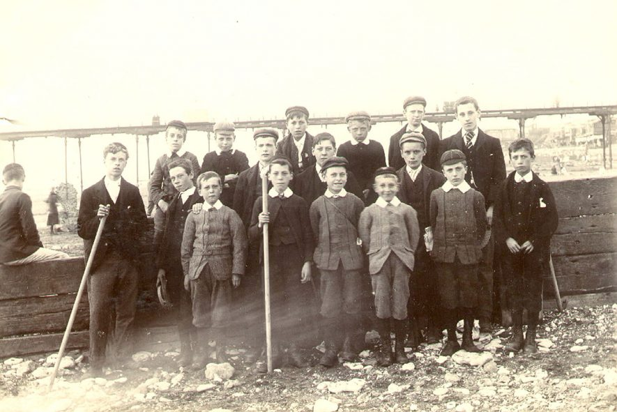 Rugby St Andrew's and Holy Trinity church choirs outing to Hunstanton, Norfolk.  1896 |  IMAGE LOCATION: (Rugby Library)