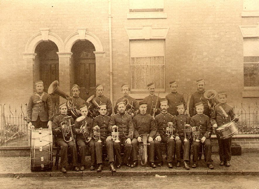 Rugby town band.  1887 |  IMAGE LOCATION: (Rugby Library)
