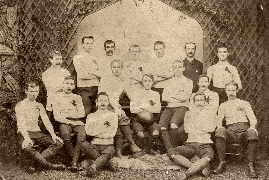 The Lions Rugby Football Team, Rugby.  1890s |  IMAGE LOCATION: (Rugby Library)