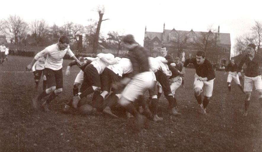 Rugby School football match against Cheltenham.  December 9th 1907 |  IMAGE LOCATION: (Rugby Library)
