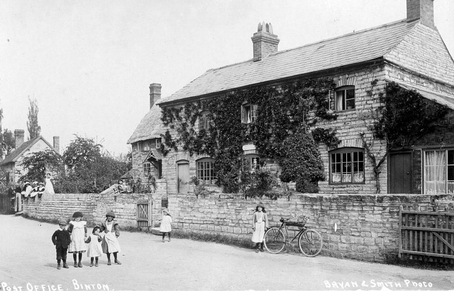 The post office at Binton.  1900s    IMAGE LOCATION: (Warwickshire County Record Office)