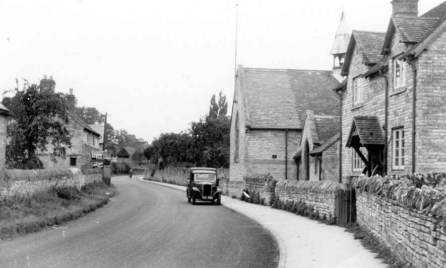 School and school house in Binton.  c. 1940s |  IMAGE LOCATION: (Warwickshire County Record Office) IMAGE DATE: (c.1940)