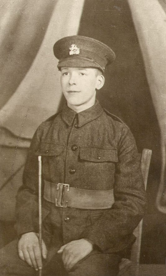 Private F.H. Boyes of Rugby who was in the Royal Berkshire Regiment. Killed in action on July 1st 1916.    IMAGE LOCATION: (Rugby Library) PEOPLE IN PHOTO: Boyes, Private F H, Boyes as a surname