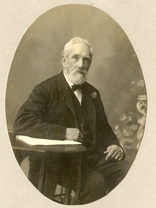Charles Collins, plumber, glazier and paper hanger, Rugby.  1880 |  IMAGE LOCATION: (Rugby Library) PEOPLE IN PHOTO: Collins as a surname, Collins, Charles
