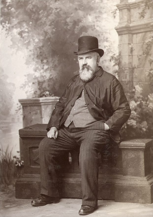 Mr James Ensor, builder from 1841, Rugby.  1880 |  IMAGE LOCATION: (Rugby Library) PEOPLE IN PHOTO: Ensor as a surname, Ensor, James