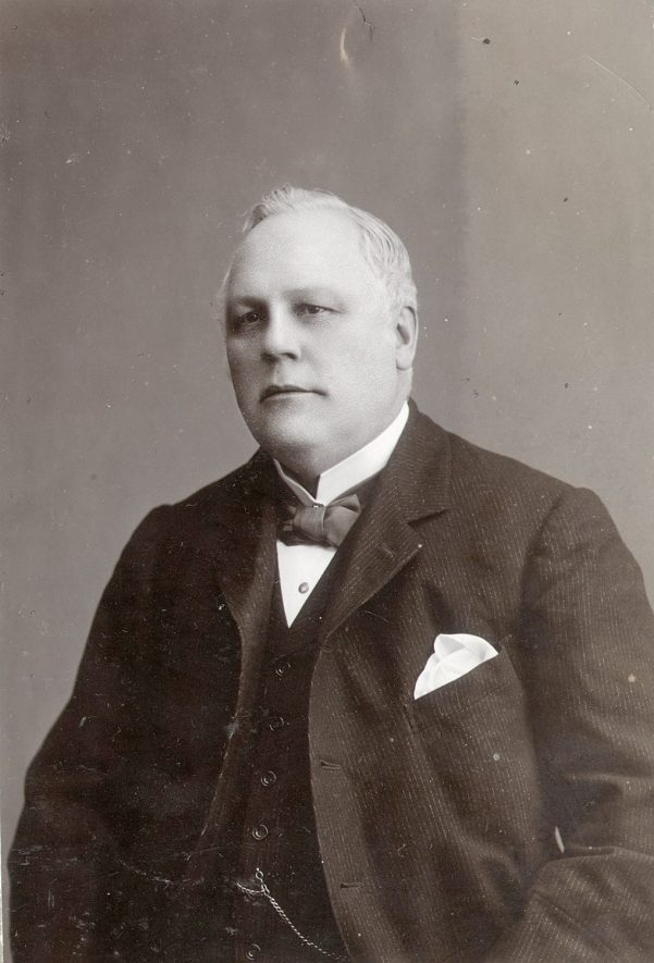Mr C.J. Elkington, chemist of High Street, Rugby.  1900s |  IMAGE LOCATION: (Rugby Library) PEOPLE IN PHOTO: Elkington, C J, Elkington as a surname