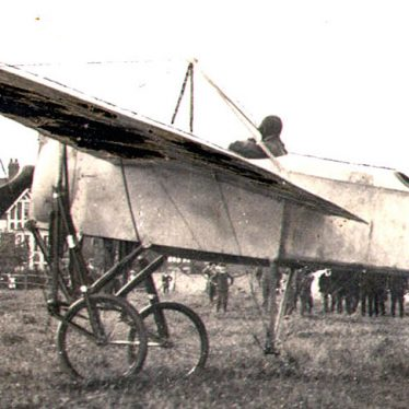 Rugby.  Visit by Bleriot monoplane