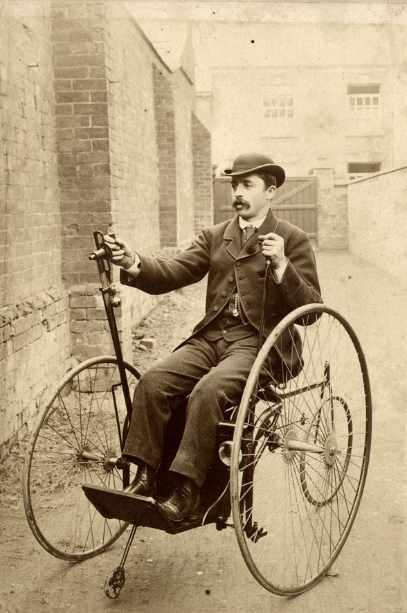 A tricycle for the disabled, Rugby.  1900s |  IMAGE LOCATION: (Rugby Library)