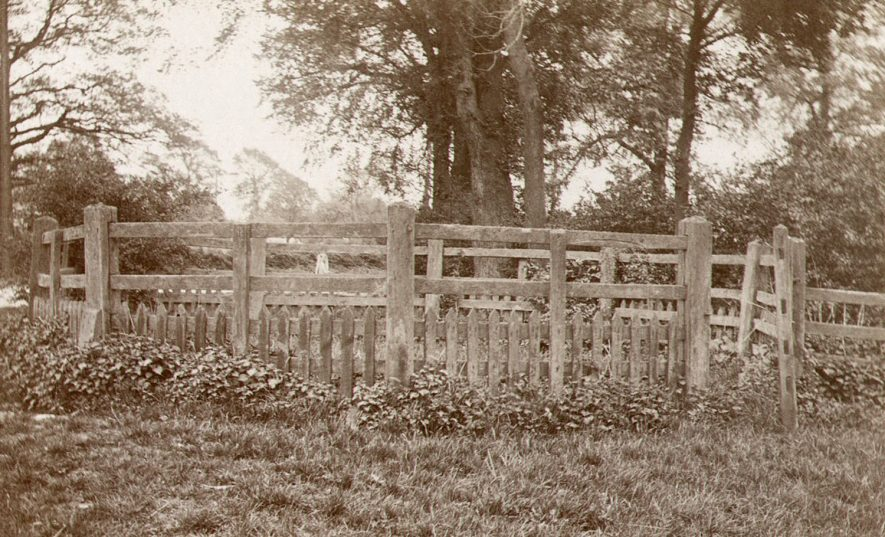 Remains of The Pound for holding stray cattle in Newbold Road, Rugby.  Photographed by F.J. Gibson, 1910 |  IMAGE LOCATION: (Rugby Library)