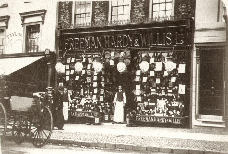 Freeman Hardy & Willis' shop in Market Place, Rugby.  1902 |  IMAGE LOCATION: (Rugby Library)