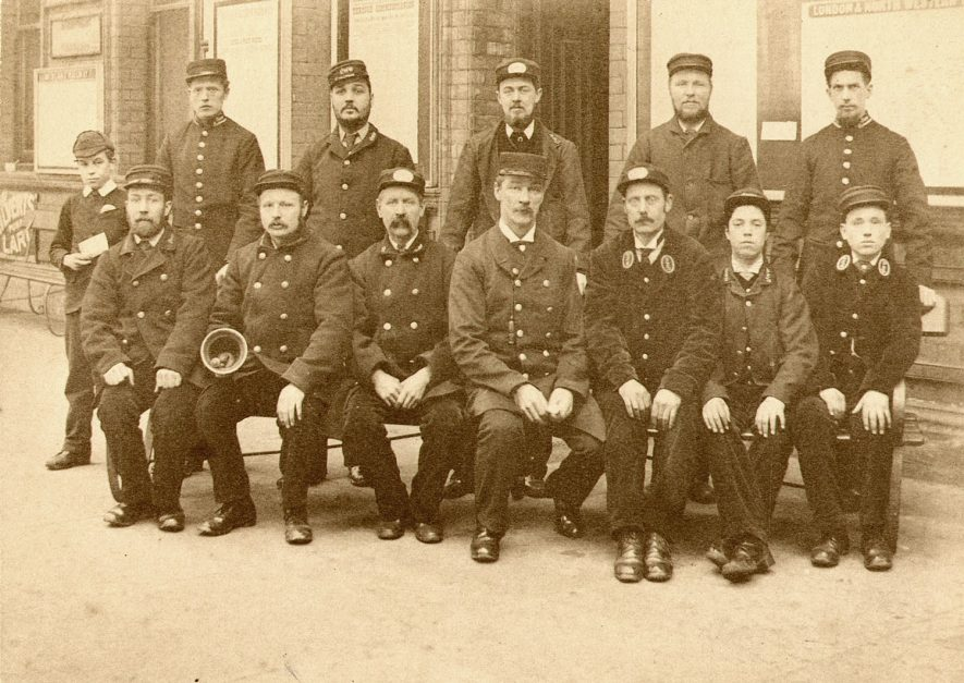 Staff of L & N.W.R at Rugby.  1900s    IMAGE LOCATION: (Rugby Library)