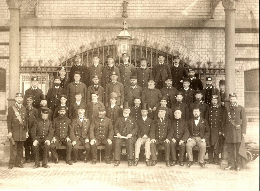 Staff of the L & N.W.R at Rugby.  1890s |  IMAGE LOCATION: (Rugby Library)