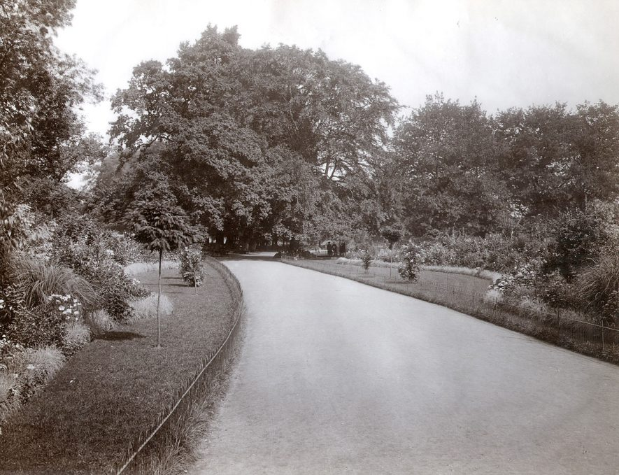 A path running through Caldecott Park, Rugby, which was opened in 1904. |  IMAGE LOCATION: (Rugby Library)