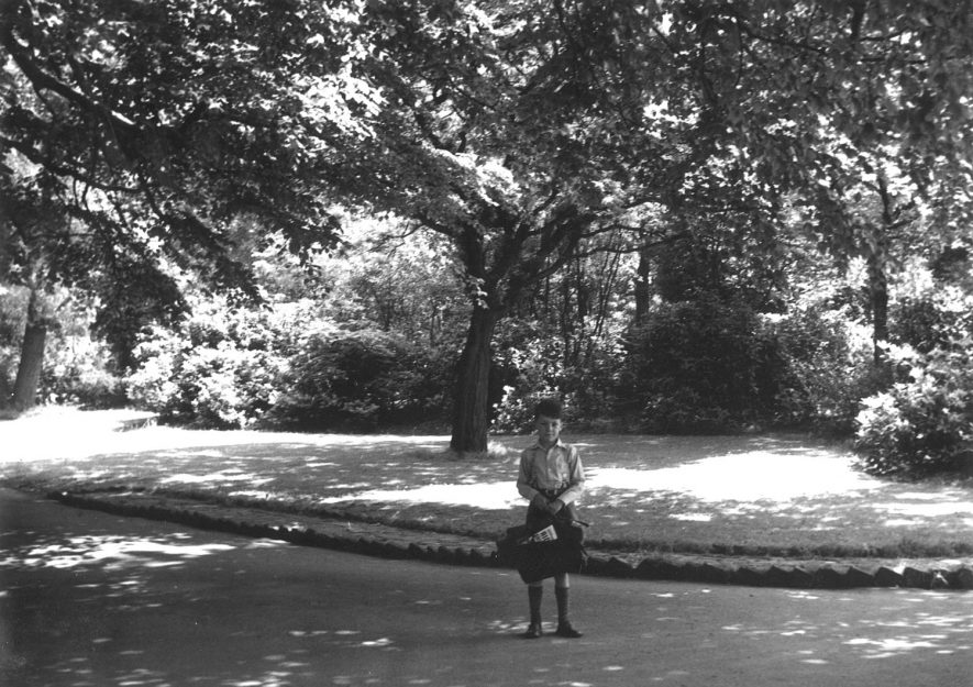 Young schoolboy pictured in Caldecott Park, Rugby.  1960s |  IMAGE LOCATION: (Rugby Library)