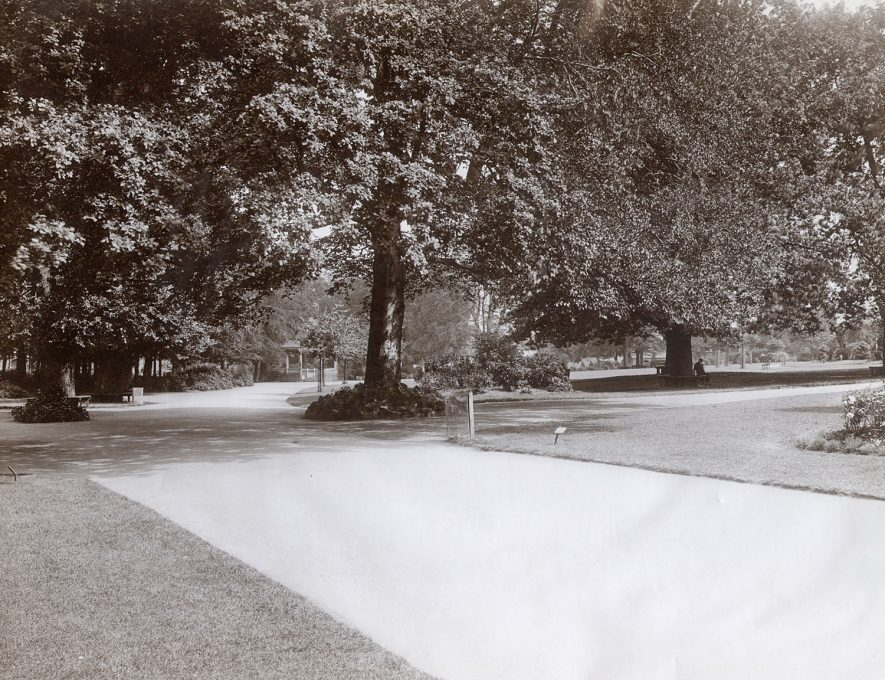 Path running through Caldecott Park, Rugby, which was opened in 1904. |  IMAGE LOCATION: (Rugby Library)