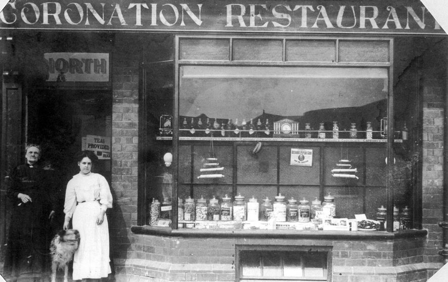 The Coronation Restaurant which was part of The Coronation Hotel in Rugby. The proprietress was M.A North.  1900s |  IMAGE LOCATION: (Rugby Library)