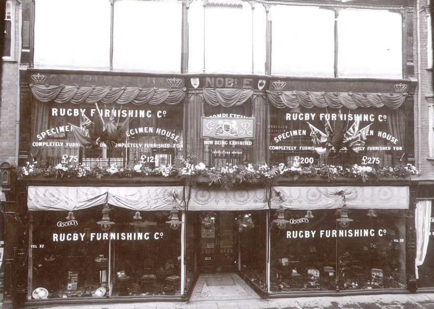 Exterior of Goodlys Furnishing Company, Rugby.  1910 |  IMAGE LOCATION: (Rugby Library)