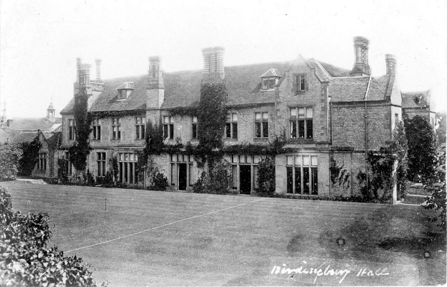 Exterior view of Birdingbury Hall, Birdingbury.  1900s |  IMAGE LOCATION: (Warwickshire County Record Office)