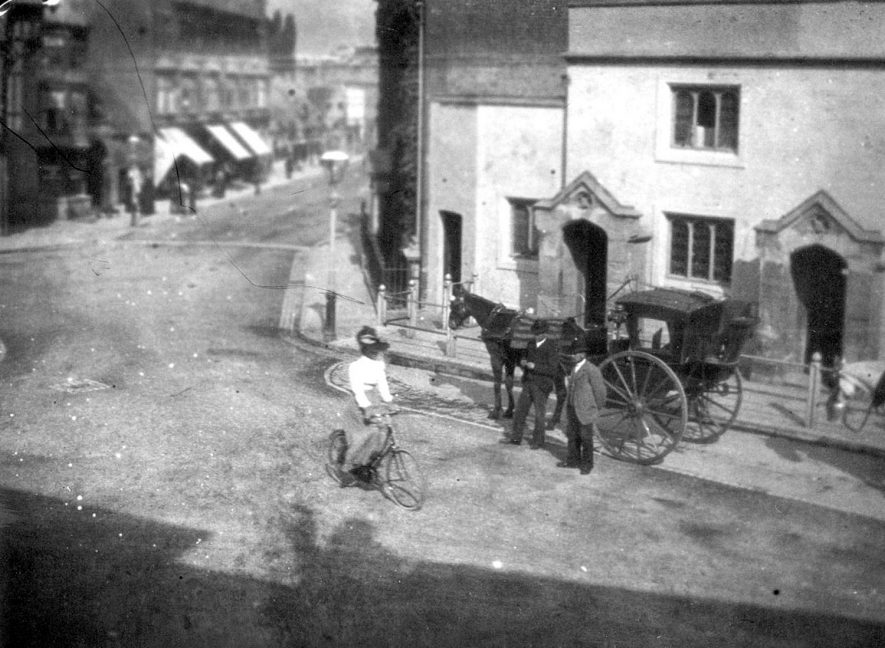 Photograph probably taken about 1900  showing the top of North Street |  IMAGE LOCATION: (Rugby Library)