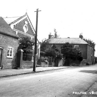 Village street and chapel in Pailton.  1910s |  IMAGE LOCATION: (Warwickshire County Record Office)