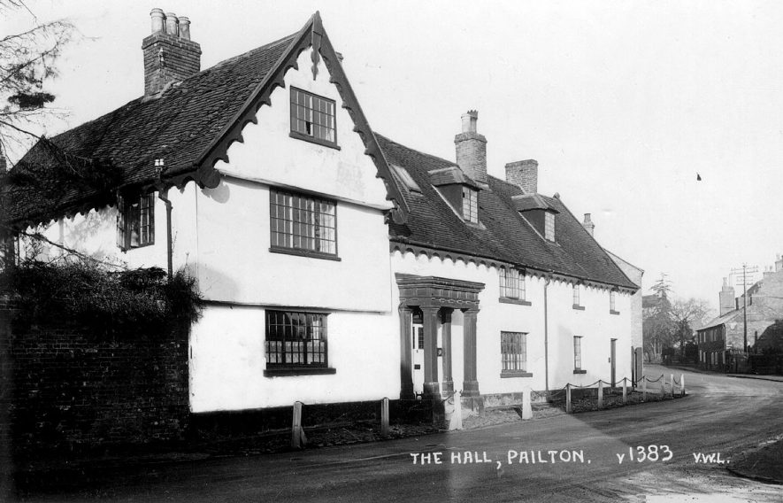 Exterior of The Hall, Pailton.  1930s |  IMAGE LOCATION: (Warwickshire County Record Office)