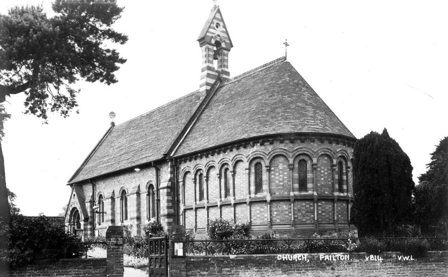Exterior of Saint Denys' church, Pailton.  1930 |  IMAGE LOCATION: (Warwickshire County Record Office)