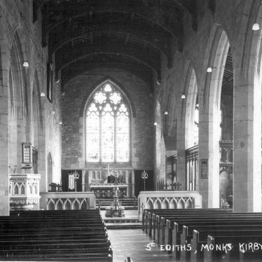 Monks Kirby.  Saint Edith's Church, interior