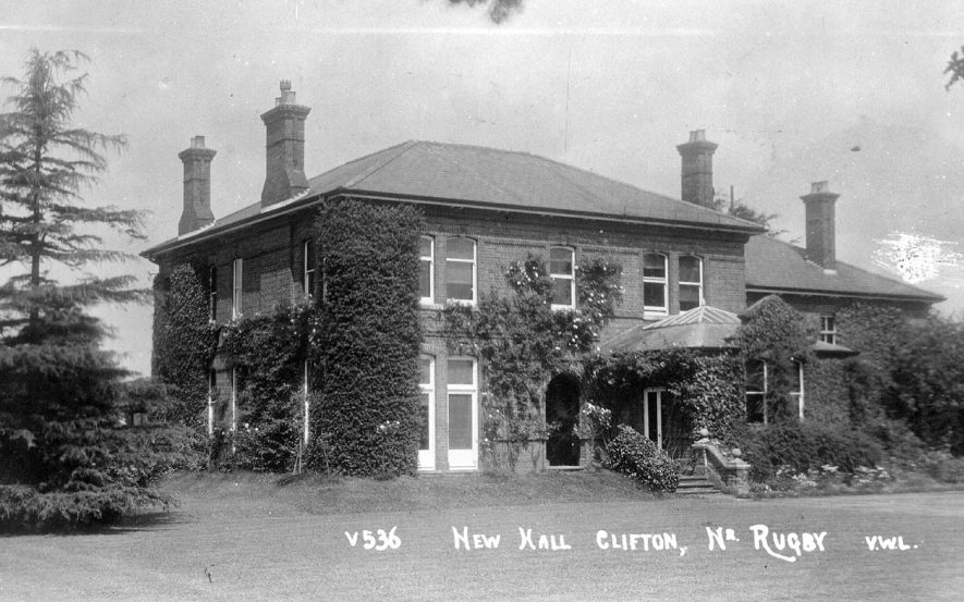 The New Hall, Clifton upon Dunsmore.  1920s |  IMAGE LOCATION: (Warwickshire County Record Office)