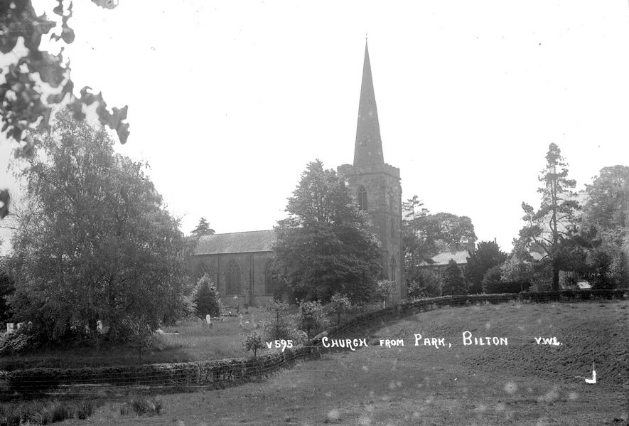 Saint Mark's church, Bilton, as seen from the park.  1920s |  IMAGE LOCATION: (Warwickshire County Record Office)