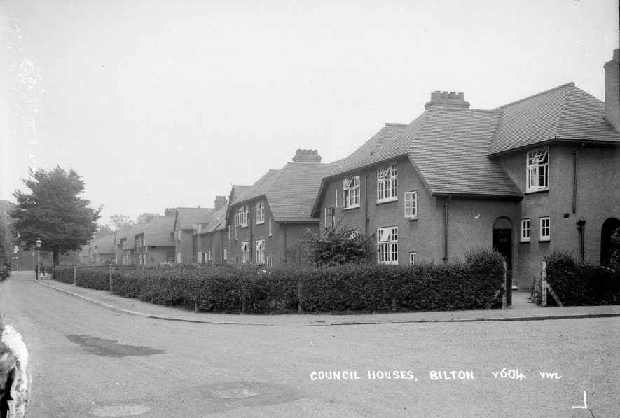Row of council houses in Bilton.  1930s |  IMAGE LOCATION: (Warwickshire County Record Office)
