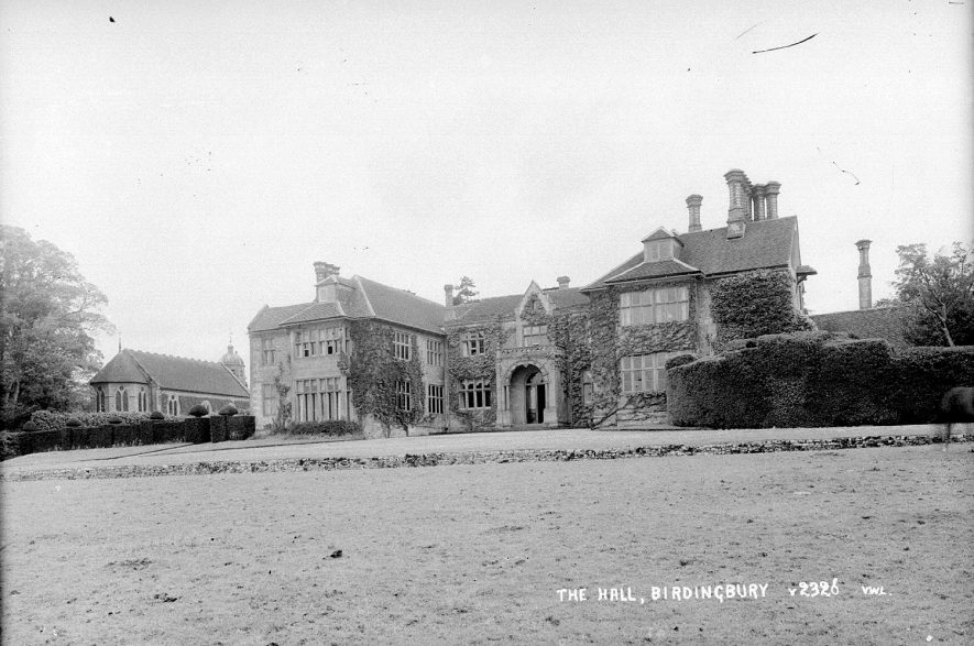 Birdingbury Hall. The house was extensively remodelled after a fire in 1859. |  IMAGE LOCATION: (Warwickshire County Record Office)