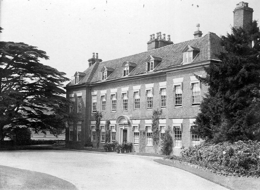 Blyth Hall, Blythe End.  Large country house with part of garden and park.  1920s |  IMAGE LOCATION: (Warwickshire County Record Office)