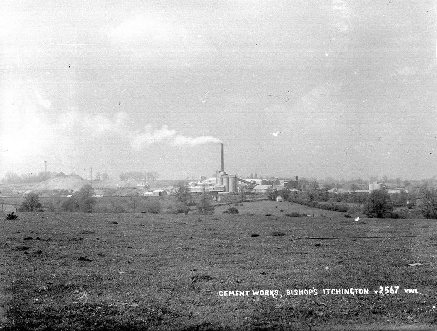 Cement Works, Bishops Itchington. [Cement plant shown is